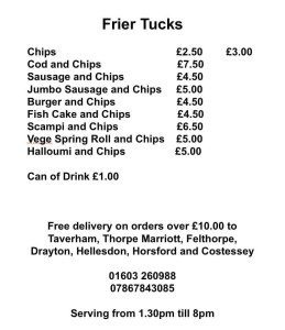Frier Tucks fish and chips
