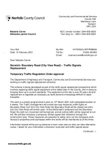 Traffic Light Replacement - Boundary Road (City View Road)
